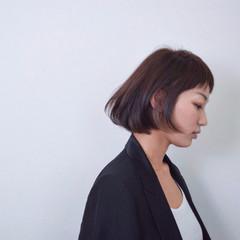 大人女子 ナチュラル オン眉 ハイライト ヘアスタイルや髪型の写真・画像