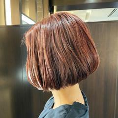 切りっぱなしボブ ミニボブ ショートヘア エレガント ヘアスタイルや髪型の写真・画像