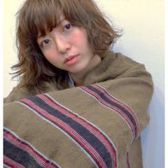 くせ毛風 パーマ ナチュラル ボブ ヘアスタイルや髪型の写真・画像