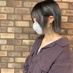 切りっぱなし ブリーチ必須 ブリーチオンカラー ナチュラル ヘアスタイルや髪型の写真・画像