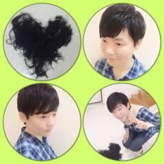 黒髪 丸顔 ストリート ショート ヘアスタイルや髪型の写真・画像