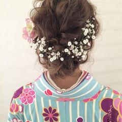 ヘアアレンジ ミディアム 外国人風 ヘアスタイルや髪型の写真・画像