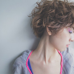 前髪あり 外国人風 ショート ピュア ヘアスタイルや髪型の写真・画像