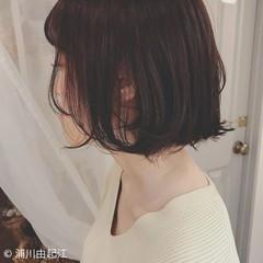 大人かわいい モテ髪 ボブ 外ハネ ヘアスタイルや髪型の写真・画像