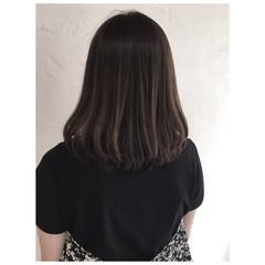 グレージュ ベージュ ナチュラル ミルクティーベージュ ヘアスタイルや髪型の写真・画像