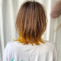 マッシュウルフ 外ハネボブ ショートボブ ストリート ヘアスタイルや髪型の写真・画像