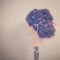 結婚式 ヘアアレンジ ロング 二次会 ヘアスタイルや髪型の写真・画像