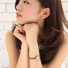 大人かわいい モテ髪 秋 セミロング ヘアスタイルや髪型の写真・画像