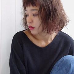 ストリート ウェーブ ボブ 暗髪 ヘアスタイルや髪型の写真・画像