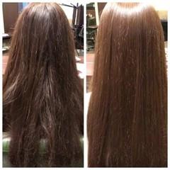 縮毛矯正 ストレート セミロング 艶髪 ヘアスタイルや髪型の写真・画像