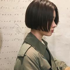 かっこいい モード ナチュラル ボブ ヘアスタイルや髪型の写真・画像
