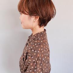 ナチュラル 簡単ヘアアレンジ ショート ハンサムショート ヘアスタイルや髪型の写真・画像