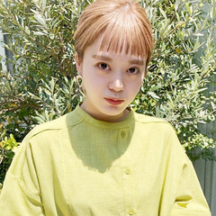 外国人風 ミニボブ デート ガーリー ヘアスタイルや髪型の写真・画像