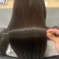 美髪 美髪矯正 サラサラ セミロング ヘアスタイルや髪型の写真・画像