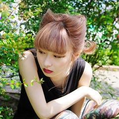 外国人風 ボブ ストリート ヘアアレンジ ヘアスタイルや髪型の写真・画像