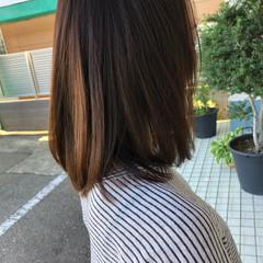 縮毛矯正 ミディアム ストレート パーマ ヘアスタイルや髪型の写真・画像
