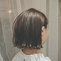 デート モード ボブ ショート ヘアスタイルや髪型の写真・画像