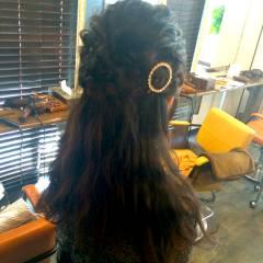 簡単ヘアアレンジ ロング ヘアアレンジ 編み込み ヘアスタイルや髪型の写真・画像