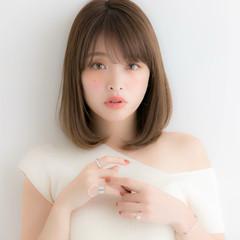 ワンカール デジタルパーマ ミディアム 上品 ヘアスタイルや髪型の写真・画像