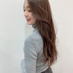 波巻き ロング 艶カラー 可愛い ヘアスタイルや髪型の写真・画像