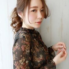 簡単ヘアアレンジ ロング ナチュラル 結婚式 ヘアスタイルや髪型の写真・画像