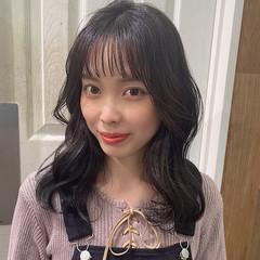 ナチュラル セミロング オルチャン 韓国ヘア ヘアスタイルや髪型の写真・画像