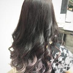 グラデーションカラー ガーリー ダブルカラー ピンクパープル ヘアスタイルや髪型の写真・画像