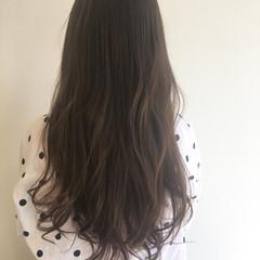 透明感 ラベンダーアッシュ ロング ラベンダー ヘアスタイルや髪型の写真・画像