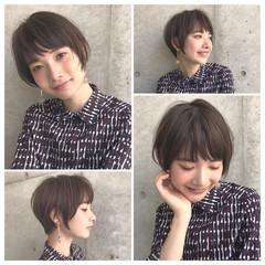 ショート 小顔 ナチュラル 大人かわいい ヘアスタイルや髪型の写真・画像
