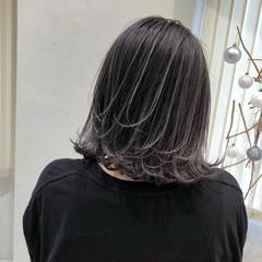 ハイトーン ハイトーンボブ ボブ ナチュラル ヘアスタイルや髪型の写真・画像