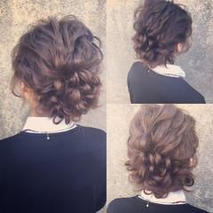 外国人風 ヘアアレンジ パーティ セミロング ヘアスタイルや髪型の写真・画像