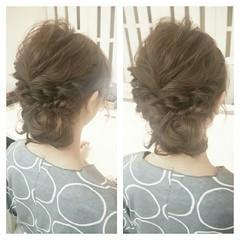 セミロング パーティ 結婚式 二次会 ヘアスタイルや髪型の写真・画像