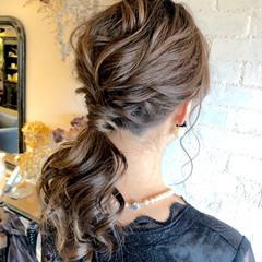 フェミニン ヘアアレンジ 簡単ヘアアレンジ デート ヘアスタイルや髪型の写真・画像