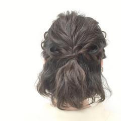 モテ髪 編み込み 波ウェーブ 大人かわいい ヘアスタイルや髪型の写真・画像