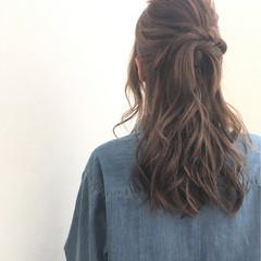 こなれ感 簡単ヘアアレンジ ショート ゆるふわ ヘアスタイルや髪型の写真・画像