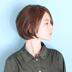 ベリーショート ミニボブ ショート イルミナカラー ヘアスタイルや髪型の写真・画像