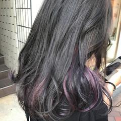 秋 グレージュ ストリート ロング ヘアスタイルや髪型の写真・画像