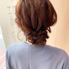 結婚式ヘアアレンジ お呼ばれヘア ヘアセット ヘアアレンジ ヘアスタイルや髪型の写真・画像