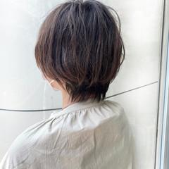 ショート ショートヘア 大人ヘアスタイル ナチュラルウルフ ヘアスタイルや髪型の写真・画像