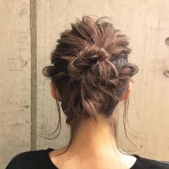 結婚式 ゆるふわ 編み込み デート ヘアスタイルや髪型の写真・画像