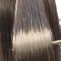 ストレート 髪質改善 ナチュラル 前下がり ヘアスタイルや髪型の写真・画像