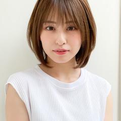 ストレート 髪質改善トリートメント 縮毛矯正 大人ミディアム ヘアスタイルや髪型の写真・画像