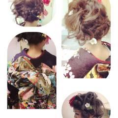 ヘアアレンジ 成人式 コンサバ ヘアスタイルや髪型の写真・画像