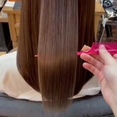 うる艶カラー 美髪 髪質改善トリートメント ナチュラル ヘアスタイルや髪型の写真・画像