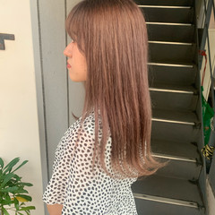 ブリーチカラー ピンクラベンダー ナチュラル ピンク ヘアスタイルや髪型の写真・画像