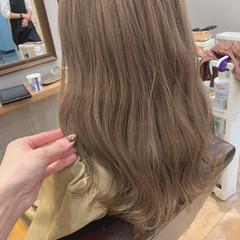 モテ髪 大人かわいい ベージュ セミロング ヘアスタイルや髪型の写真・画像