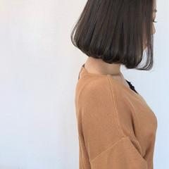 ワンカール ボブ 秋冬スタイル ナチュラル ヘアスタイルや髪型の写真・画像