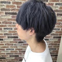 ブルー ラベンダーアッシュ メンズ アッシュ ヘアスタイルや髪型の写真・画像