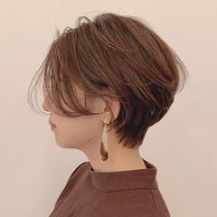 セミウェット コンサバ 秋冬スタイル ショートボブ ヘアスタイルや髪型の写真・画像