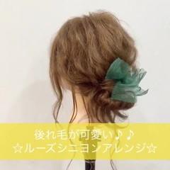 ミディアム 大人かわいい ヘアアレンジ 夏 ヘアスタイルや髪型の写真・画像